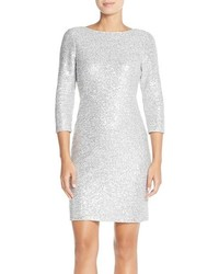 Julia Jordan Sequin Sweater Knit Sheath Dress