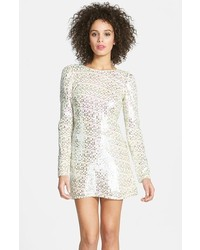 Silver Sequin Shift Dress
