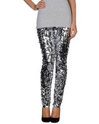 Silver Sequin Skinny Pants