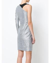 Patbo Asymmetrical Single Sleeve Mini Dress