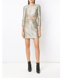 Nk Cut Out Detail Jacquard Dress