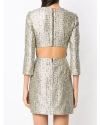 Nk Cut Out Detail Jacquard Dress