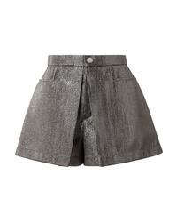 Chloé Pleated Lam Shorts