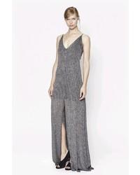 Silver Slit Maxi Dress