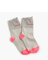 J.Crew Girls Cat Socks