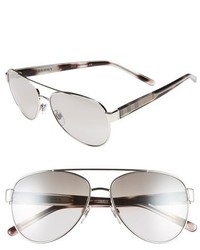 Burberry 57mm Aviator Sunglasses Silver