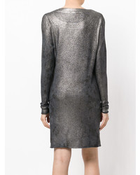 Avant Toi Fitted Metallic Dress
