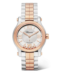 Chopard Happy Sport 30mm 18 Karat Gold Stainless And Diamond Watch