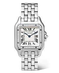 Cartier Panthre De 22mm Small Stainless And Diamond Watch