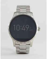 Fossil Q Ftw2109 Marshal Bracelet Smart Watch In Silver