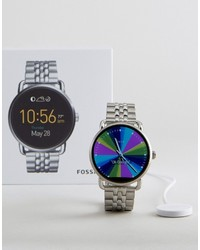 Fossil Q Ftw2111 Wander Bracelet Smart Watch In Silver