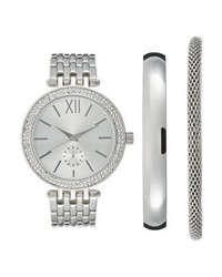 Anna Field Set Watch Silver Coloured