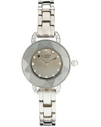 Lipsy Silver Coloured Bracelet Watch With Silver Coloured Dial Silver