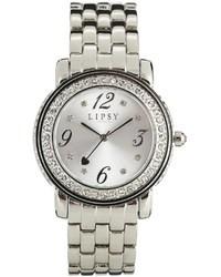 Lipsy Silver Fine Links Diamond Watch