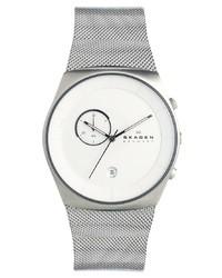 Skagen Silver Mesh Strap Watch Skw6071