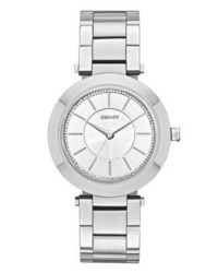 DKNY Stanhope Watch Silver Coloured
