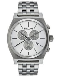 Nixon Time Teller Chronograph Watch All Gunmetal