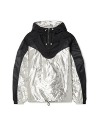 Isabel Marant Richie Hooded Two Tone Metallic Shell Jacket