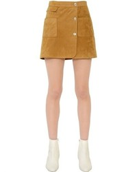 Suede button skirt original 11337014