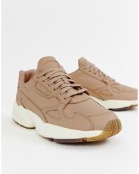 adidas Originals Adidas Orignals Premium Leather Falcon Trainers In Beige