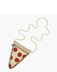 J.Crew Girls Glitter Pizza Slice Bag
