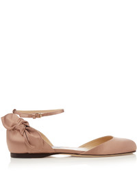 Jimmy Choo Kirsty Bow Back Satin Ballet Flats