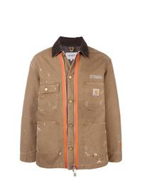 Heron Preston Splatter Effect Shirt Jacket