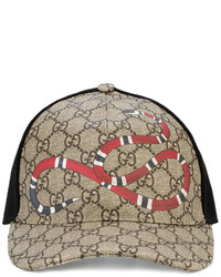 Gucci Rap Baseball Cap With Snake And Gg Logo Detailing
