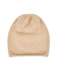 Topshop Rolled Edge Beanie Camel One Size