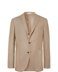 Boglioli Beige K Jacket Slim Fit Unstructured Virgin Wool Hopsack Blazer
