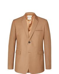 Bottega Veneta Camel Worsted Mohair And Wool Blend Blazer
