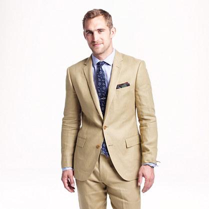 J.Crew Ludlow Suit Jacket In Irish Linen | Where to buy & how to wear