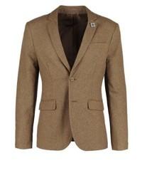 Pier One Suit Jacket Camel Melange