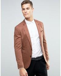 Super skinny blazer with fleck detail in brown medium 763125
