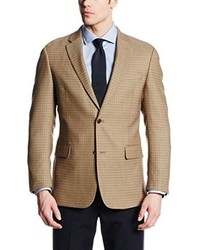 Tommy Hilfiger Riley Tan Check Two Button Side Vent Sport Coat