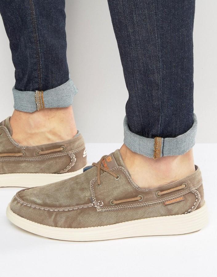 fa6063384629 ... Skechers Status Melec Boat Shoes ...