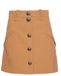 Chloé Chlo Button Through A Line Crepe Mini Skirt