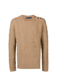 Tan Cable Sweater