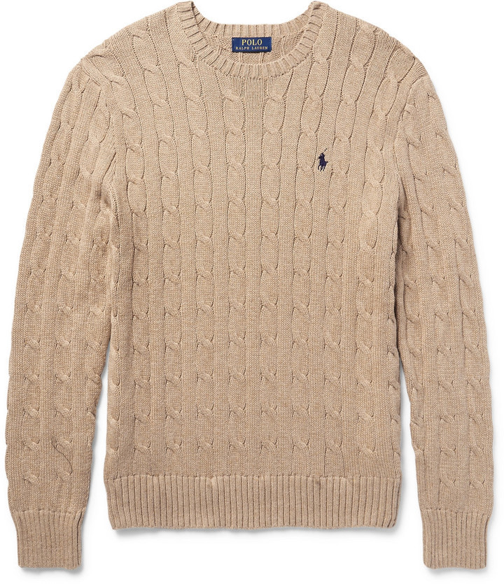 de50d9cd8a55 ... Polo Ralph Lauren Cable Knit Cotton Sweater ...