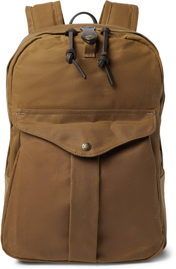 8ea191b742 ... Filson Journeyman Leather Trimmed Canvas Backpack ...