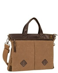 Tan Canvas Briefcase