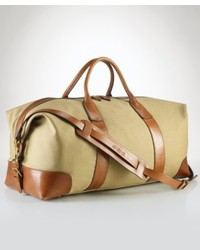 Tan Canvas Duffle Bag