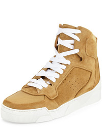 Tan Canvas High Top Sneakers