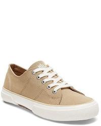 Tan Canvas Low Top Sneakers