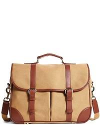 Tan Canvas Messenger Bag