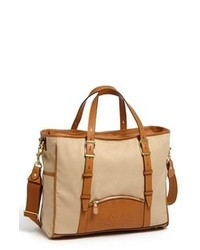 Tan Canvas Tote Bag