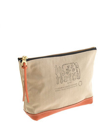 J.Crew Suolo Canvas And Leather Pouch