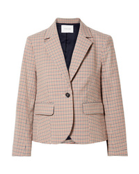 Frame Checked Cotton Blend Blazer