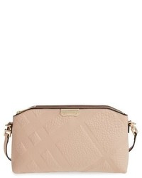 Burberry Chichester Signature Check Embossed Leather Crossbody Bag