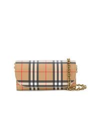Burberry Heymarket Checked Pattern Bag
